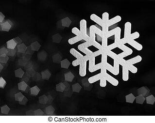 deco snowflake - felt made deco snowflake in blurry back