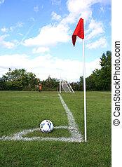 felt, soccer bold, hjørne