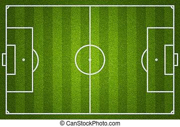 felt, soccer, eller, fodbold