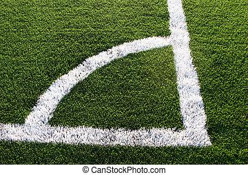 felt, soccer, hjørne