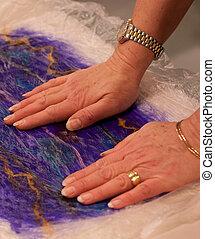 felt - hands crafting felt