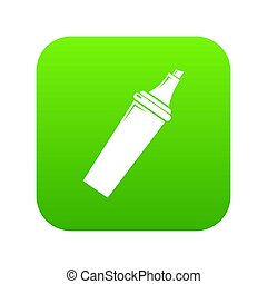 Felt tip pen icon green