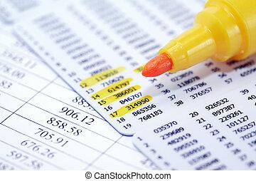 Felt Tip Pen - Business concept. Closeup of yellow felt tip...