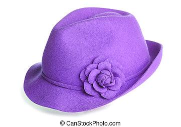 feltro, chapéu, teal