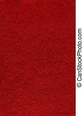 feltro, sfondo rosso