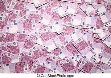 fem hundra, euro, bakgrund, souvenir