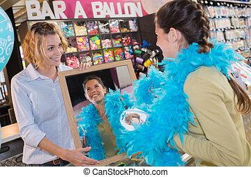 femal shopper ready for carnival
