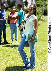female african american high school student