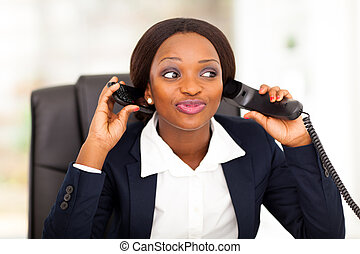 female african American office worker