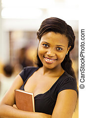 female african college student