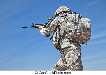 United States female paratrooper airborne infantrymen in uniform