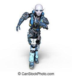 Female alien - 3D CG rendering of a female alien.