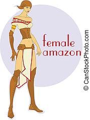 female amazon - attractive girl in the Amazon historic...