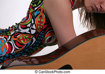 Female and guitar curves