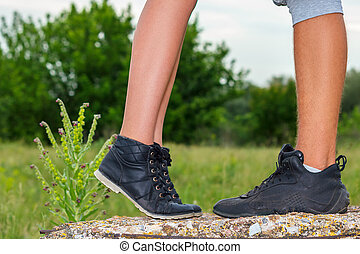 female and male feet are , the concept of the relationship