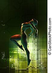 female android futuristic