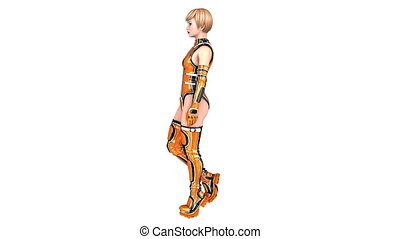 female android - walking female android