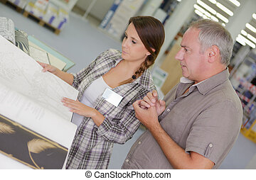 female architect in the office with manager