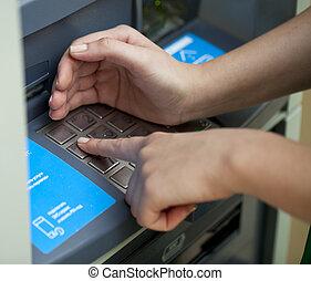 ATM - entering pin