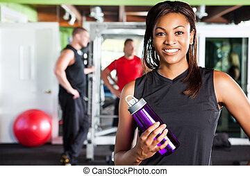 Female athlete - A shot of a happy black female athlete ...