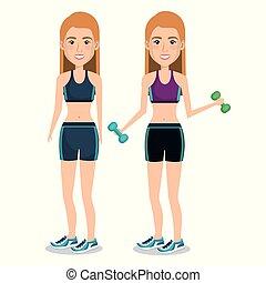 female athlete weight lifting