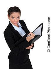 Female auditor