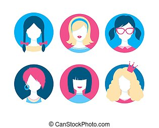 Female avatars.