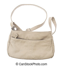 female bag isolated on white