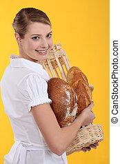 Female baker