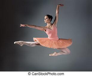 Female ballet dancer - Beautiful female ballet dancer on a ...