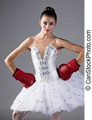 Female ballet dancer - Beautiful female ballet dancer on a...