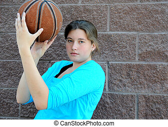 Female basketball player.