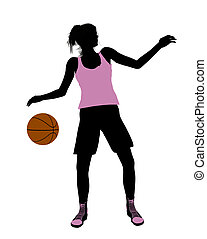 Female Basketball Player Illustration Silhouette