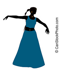 Female Belly Dancer Silhouette - Female belly dancer...