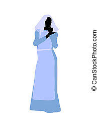 Female Biblical Silhouette Illustration - A female bilbical...