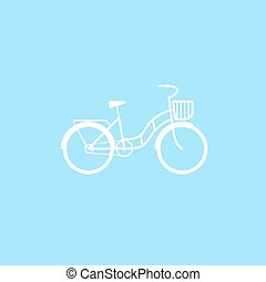 Female bicycle with a basket