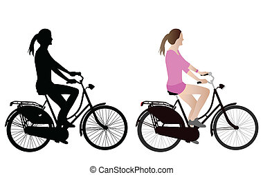 female bicyclist