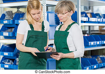 Female blue-collar workers