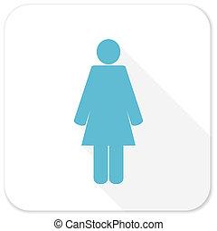 female blue flat icon