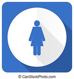 female blue flat icon female gender sign