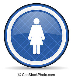 female blue icon female gender sign