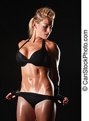 Female Bodybuilder With Beautiful Form - Blonde Female...
