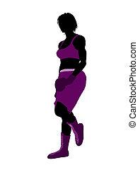 Female Boxer Illustration Silhouette - Female boxing art...