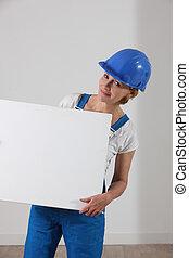 Female builder