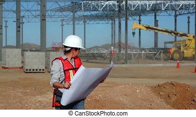 Female Building Engineer Schematics - Female civil engineer...