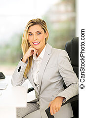 female business executive in office