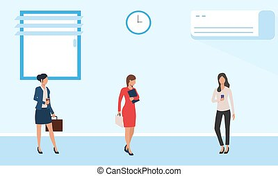 female business meeting in a conference room