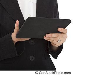 Female Business Professional Using Digital tablet