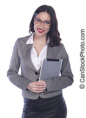 Female Business Professional Using tablet pc