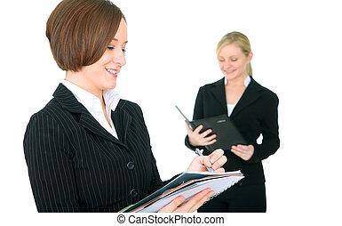 Female Businessteam Working